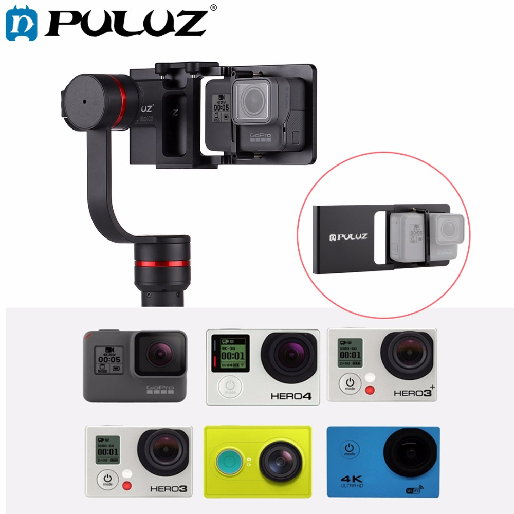 PULUZ Mobile Phone Gimbal Switch Mount Plate Adapter Compatible for GoPro HERO6 5 4 3 3