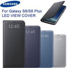 Оригинальный samsung светодиодный чехол Smart Cover чехол для телефона EF-NG955 для samsung Galaxy S8 S8 Plus S8plus функция сна карман для карт