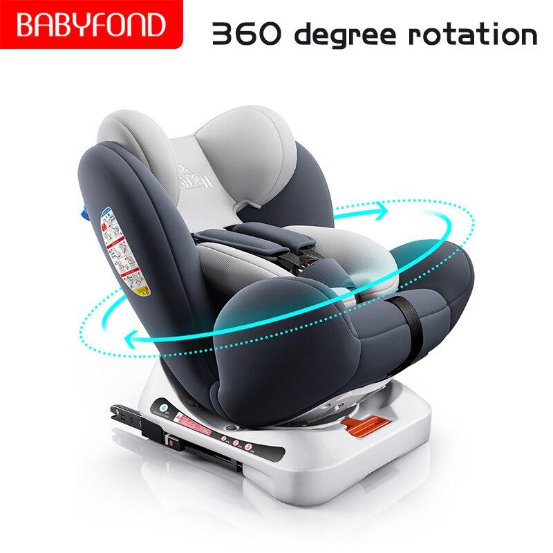 ¡Envío rápido! Asiento de coche para niños de 0-12 años de edad bebé coche portátil de 360 grados de rotación de asiento ISOFIX interfaz