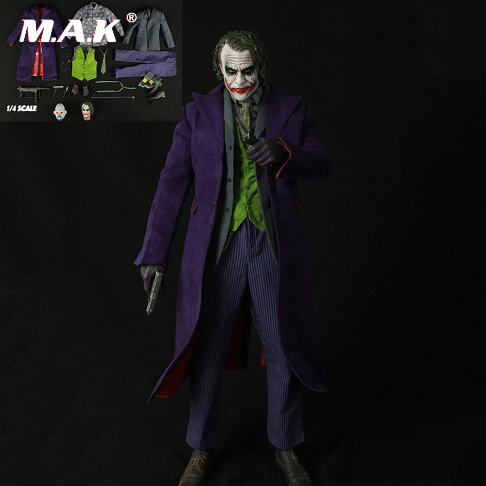 1:4 Scale Clown Costume Accessories Joker Figure Clothes Set & Body DIY Action Figure Action Figure 1 6 scale figure doll clothes male batman joker suit for 12 action figure doll accessories not include doll and other 1584