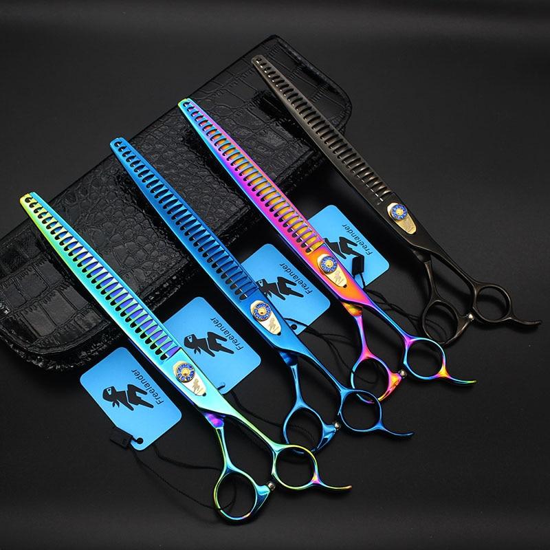 9 pouces professionnel requin dents pêche os Pet amincissement coiffure ciseaux animal toilettage cisaillement Tesouras coiffure outil