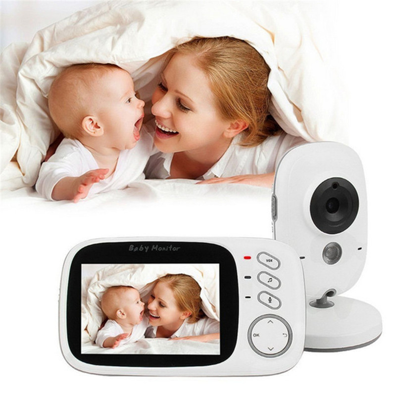 MBOSS Video Baby Monitor with 3 2 Inch Color LCD Screen Infrared Night Vision Temperature Monitoring