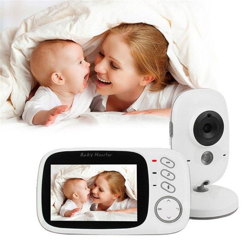 MBOSS видеоняни и радионяни с 3,2 дюймов цветной ЖК-экран инфракрасного ночного видения температура мониторинга двухсторонняя детская камера