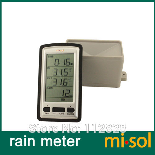 все цены на Free Shipping wireless rain meter w/ thermometer, rain gauge Weather Station for in/out temperature онлайн
