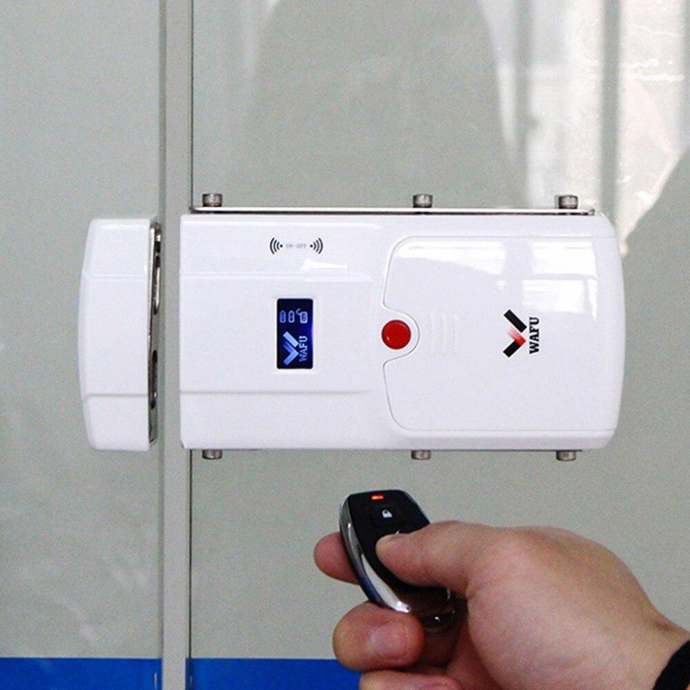WAFU умный электронный замок HF-011A с Bluetooth включенным пультом дистанционного управления без ключа дверной замок Засов встроенный сигнализатор...