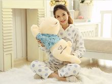 new creative cute lying bear toy plush squinting in blue cloth bear doll gift about 70cm