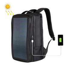 Haweel Esnek GÜNEŞ PANELI Sırt Çantaları Kolaylık Şarj Laptop Çantaları Seyahat için 14W güneş enerjisi şarj cihazı Daypacks ve Kolu ve USB Bağlantı Noktası
