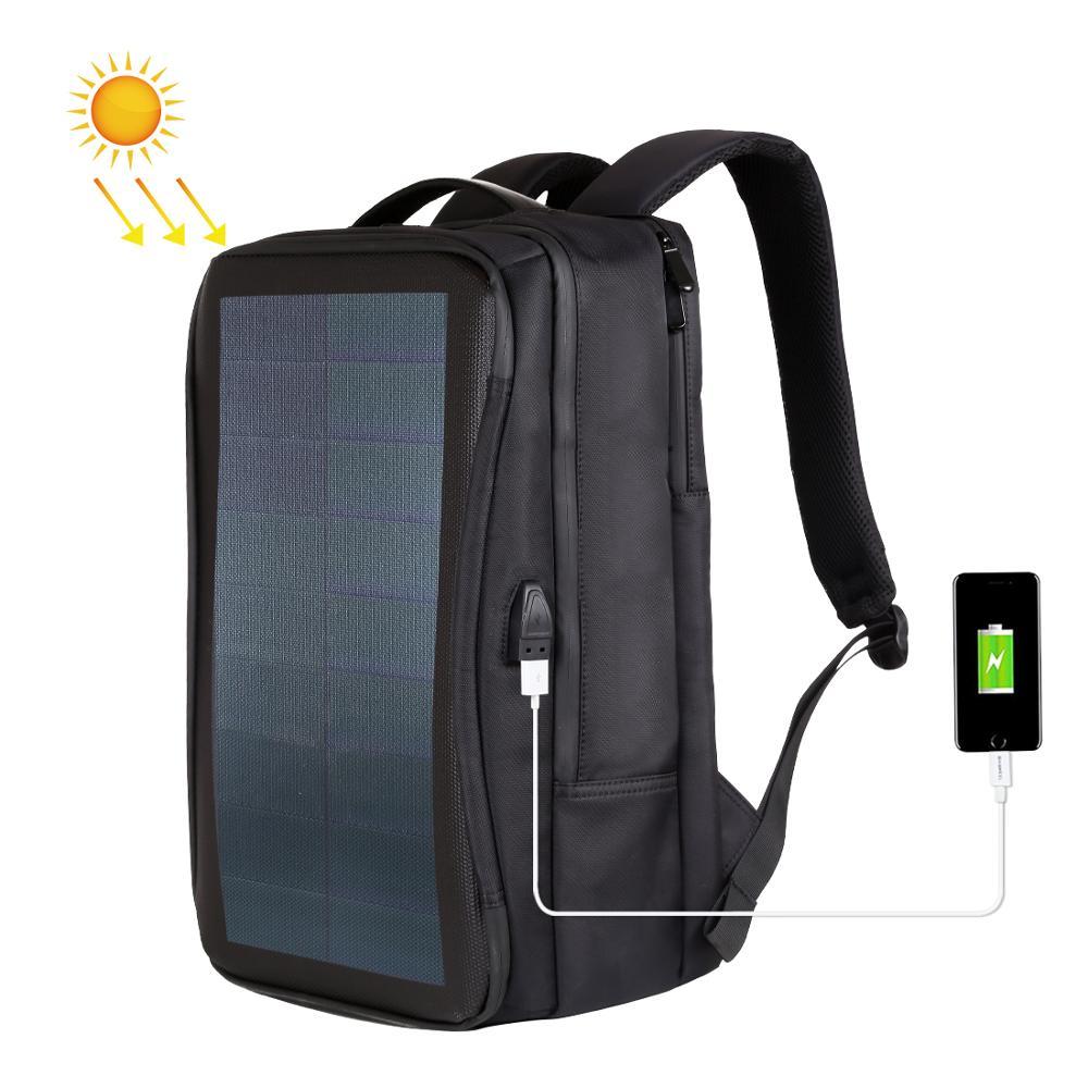 Haweel Flexible panneau solaire sacs à dos commodité chargement sacs pour ordinateur portable pour voyage 14W chargeur solaire Daypacks & poignée & Port USB
