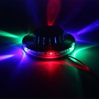 2PC RGB Auto Color Changing Rotating Popular Magic Disco DJ Stage Lighting Sunflower 48 LED RGB