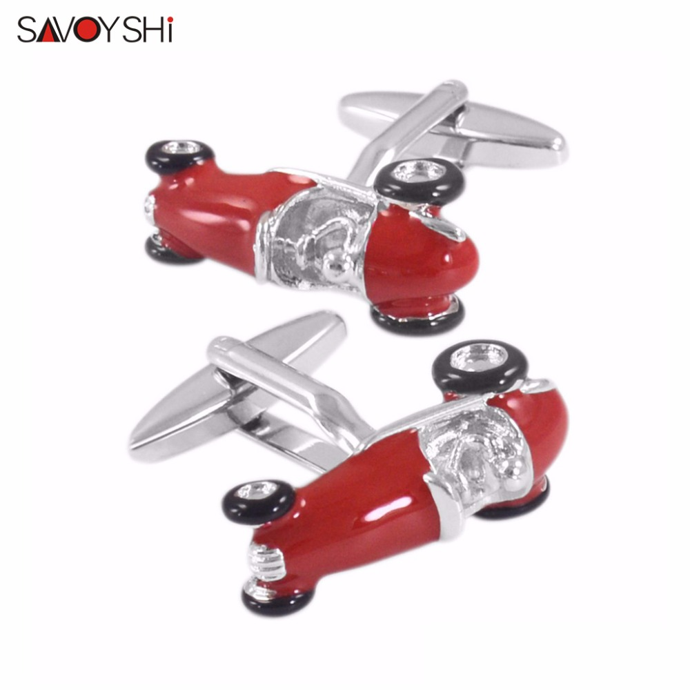 SAVOYSHI Brand Personalized Customization LOGO Cufflinks For Mens Shirt Cuff Bottons High Quality Car Cuff Links Novelty Jewelry