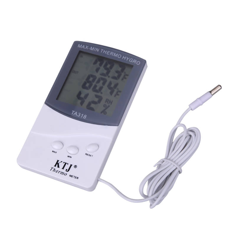 TA318 Digital LCD Thermometer Electronic Hygrometer Humidity Temperature Meter Indoor Outdoor Weather Station Alarm Clock lcd display digital indoor hygrometer clock alarm temperature humidity meter gauge thermometer barometer weather station m25