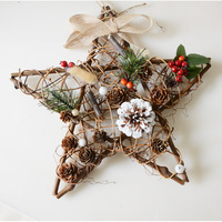 Christmas Star Simulation Fruit Garlands Home Furnishing Pine Wreath Party Wall Window Decorative Pendant Ornaments Crafts