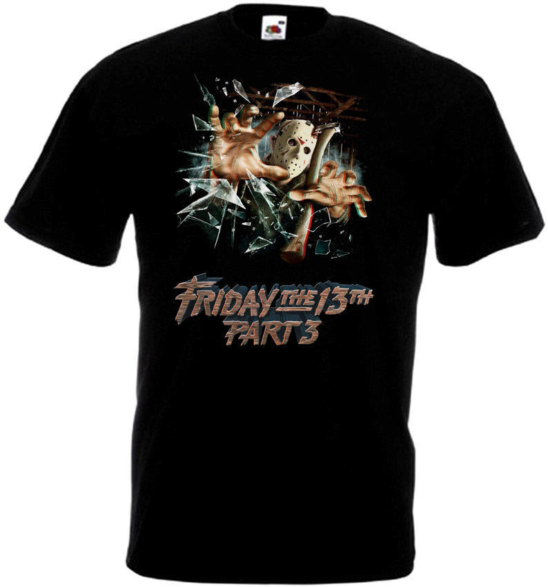Friday The 13 v43 T-Shirt all sizes S-5XL BLACK