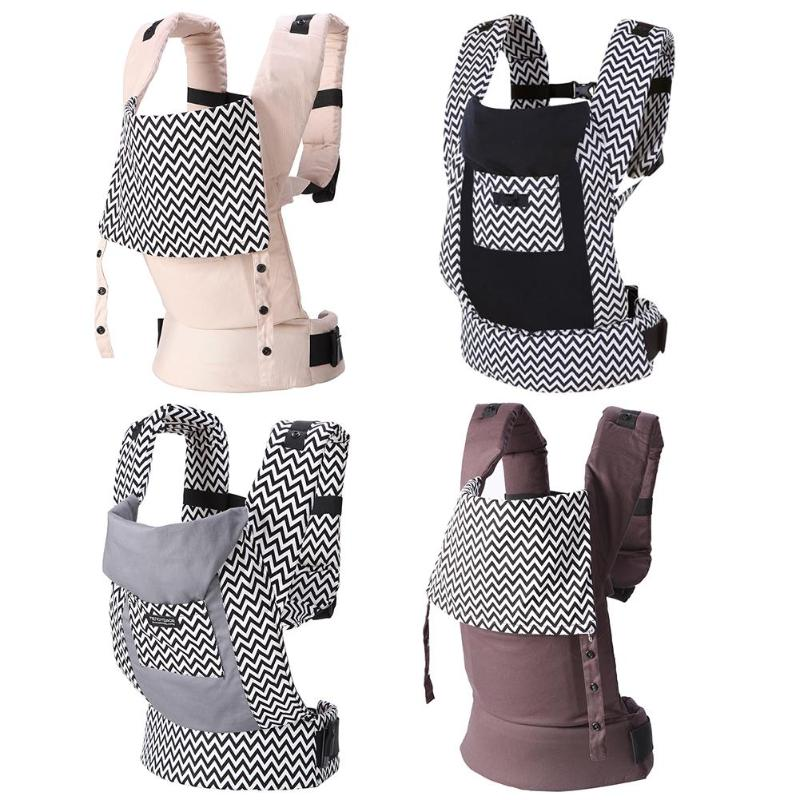 Newborn Baby Front Facing Carrier 5-36M Infant Sling Backpack Back H-shape Buckle Kids Pouch Wrap Carrier With Large Storage Bag