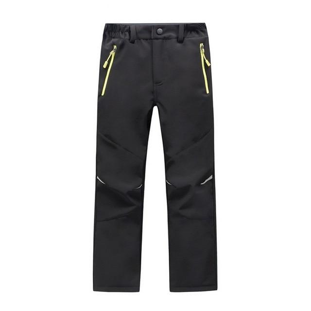 2018 Autumn Winter Children Patchwork Casual Zipper Pants Fleece Keep Warm Trousers Winter Kids Boys Girls Wearable Sport Pants