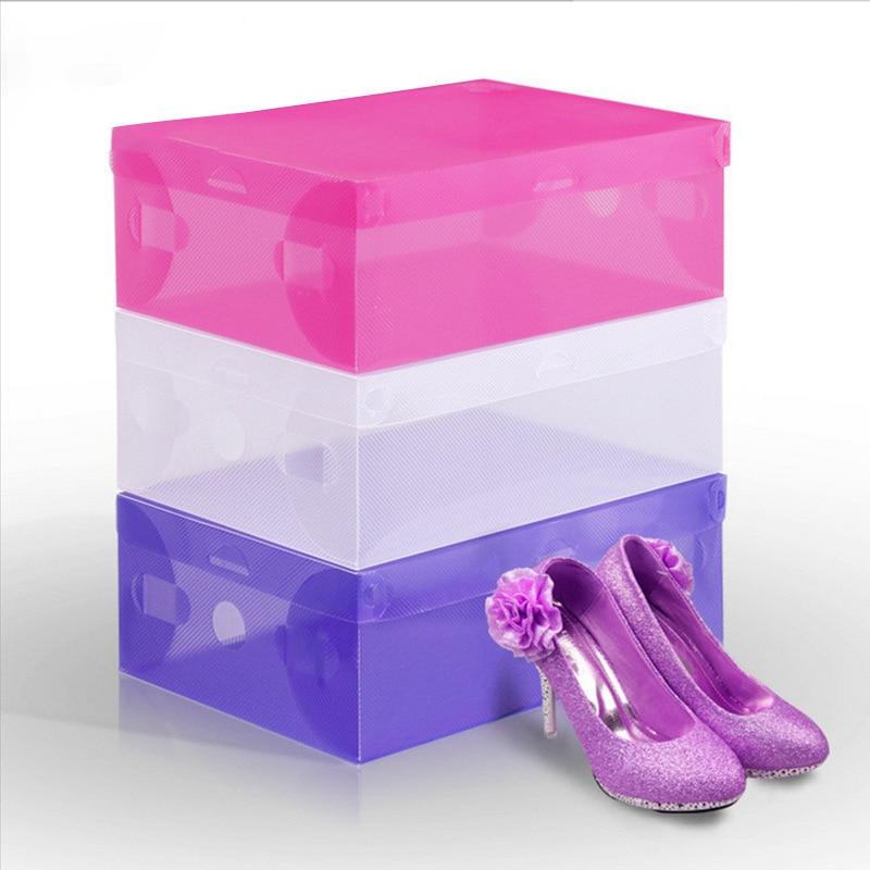 transparent clear plastic shoes storage boxes foldable shoes case holder pp eco friendly shoe. Black Bedroom Furniture Sets. Home Design Ideas