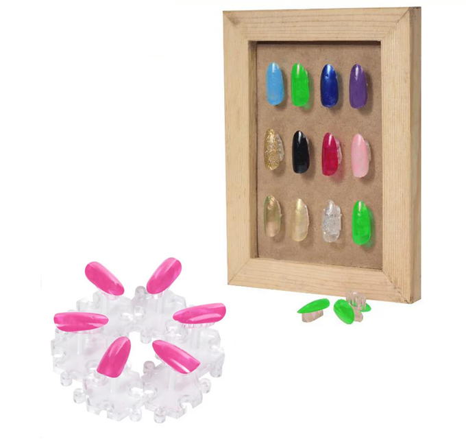 Nail Art Training Plastic Practice Display Fixed Stand Nail art ...