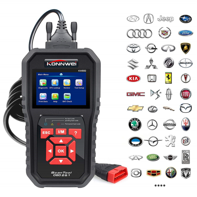 KONNWEI KW850 OBD2 Auto Diagnose Scanner ODB2 Überprüfen Motor Automotive Auto Code Reader Schwarz Universal OBD Auto Diagnose Werkzeug