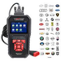 KONNWEI KW850 OBD2 ODB2 Check Engine Auto Scanner de Diagnóstico Automotivo Ferramenta de Diagnóstico Do Carro Do OBD Leitor de Código de Carro Preto Universal