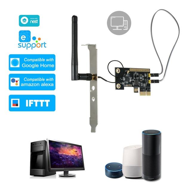 eWeLink Mini PCI e Desktop PC Remote Control Switch Card WiFi Wireless Smart Switch Relay Module Wireless Restart Switch