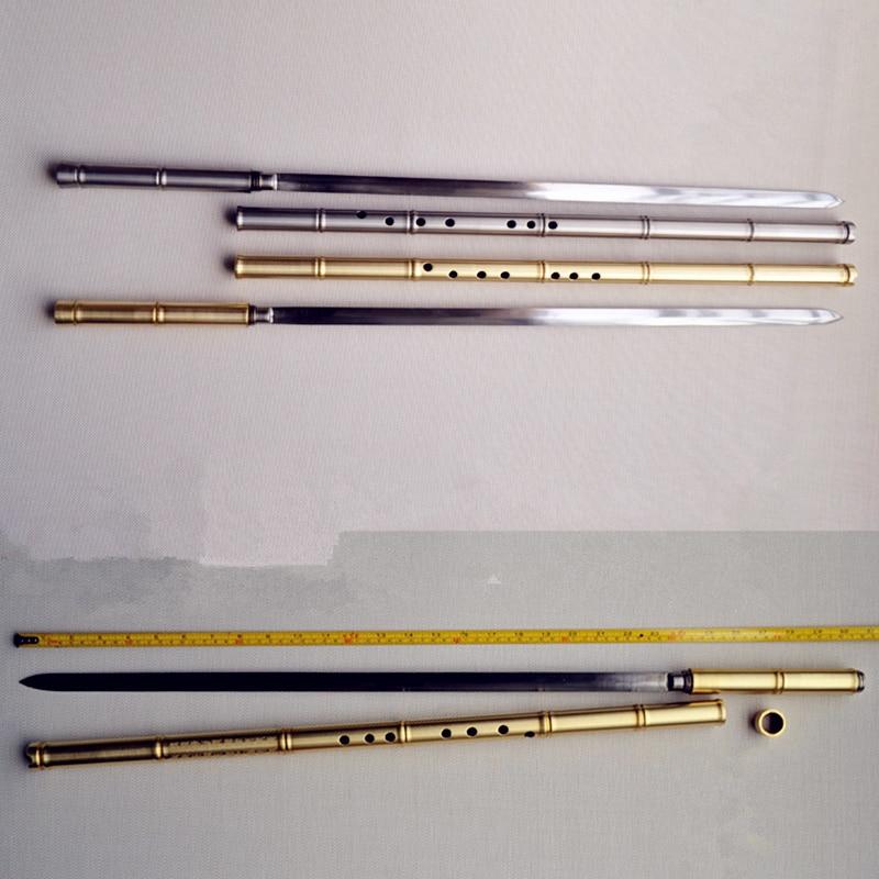 Metal Xiao Flute Hidden Jian