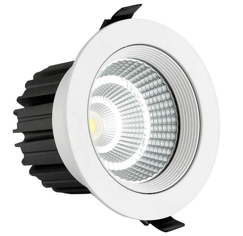 30W COB LED Downlights Fixture Recessed Lamps 60 Angle Decorative Ceiling Down Lights+Transformer AC110-240V CE&ROHS