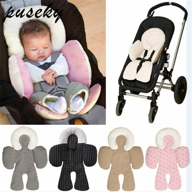 Baby Stroller Cushion Car Seat Accessories Carriage Thermal Pad Liner Children Shoulder Belt Strap Cover Neck