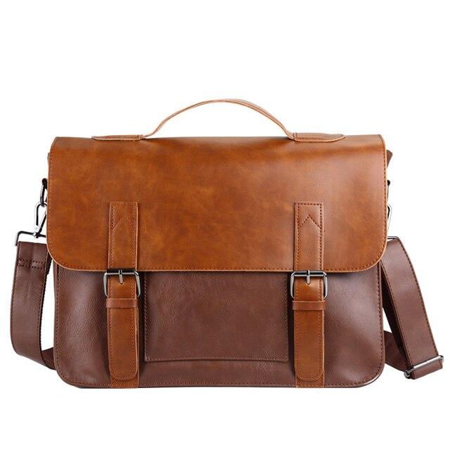 8654f38869 Di alta qualità moda retrò da uomo borse di Grande capienza impermeabile borsa  a tracolla maschile