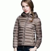 Winter Fall Women Designer White Duck Down Jacket Woman Hooded Ultra Light Down Jackets Zipper Coat Snow Parka Outwear Brand