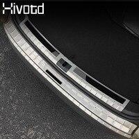 Hivotd For Skoda Kodiaq Car Exterior Accessories Rear Bumper Protector Cover Panel trim Chromium Styling decoration 2017 2019