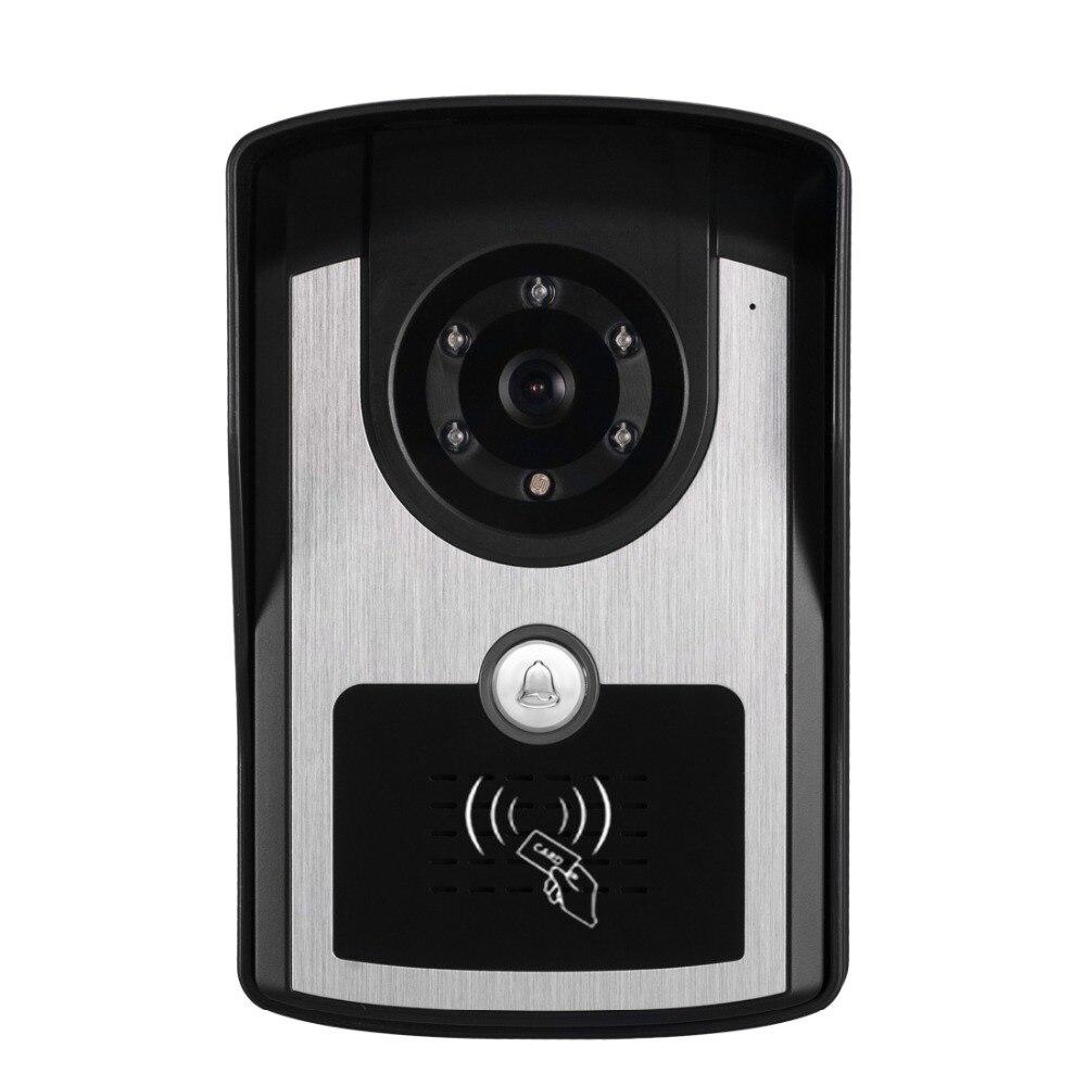 "Image 5 - Rfid Keyboard Video Intercom Home Video Door Phone IP55 Waterproof Camera Color Monitor 7"" Video Door Bell Kit-in Video Intercom from Security & Protection"