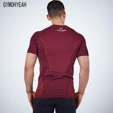 ФОТО gymohyeah 2017 new men's t shirts fashion o-neck casual fitness bodybuilding t shirt hip hop printing tight quick dry t shirt
