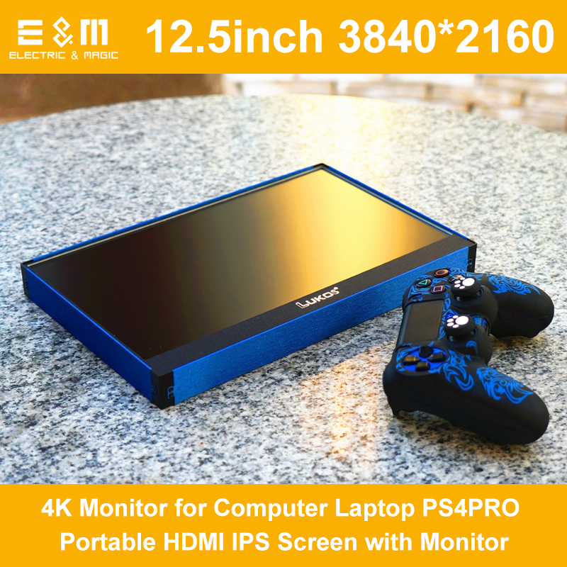 12.5 Inch 3840 * 2160 Real 4K Monitor Screen For Computer Laptop Xbox PS4 PRO Portable HDMI IPS Displayer