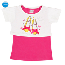 JUXINSU Cotton Summer Girls Tshirt Kids T-shirt Children Clothing Short Sleeve Tops for Baby 1-7 Years