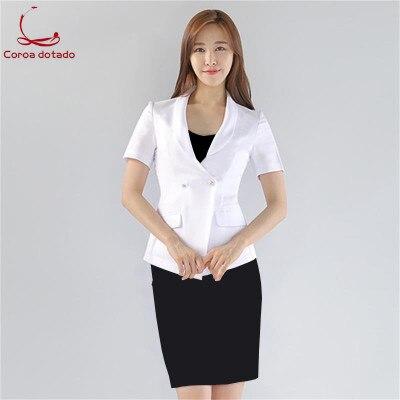 Plastic surgery hospital front desk uniform short sleeve suit beauty salon hotel manager consultant shop manager uniform