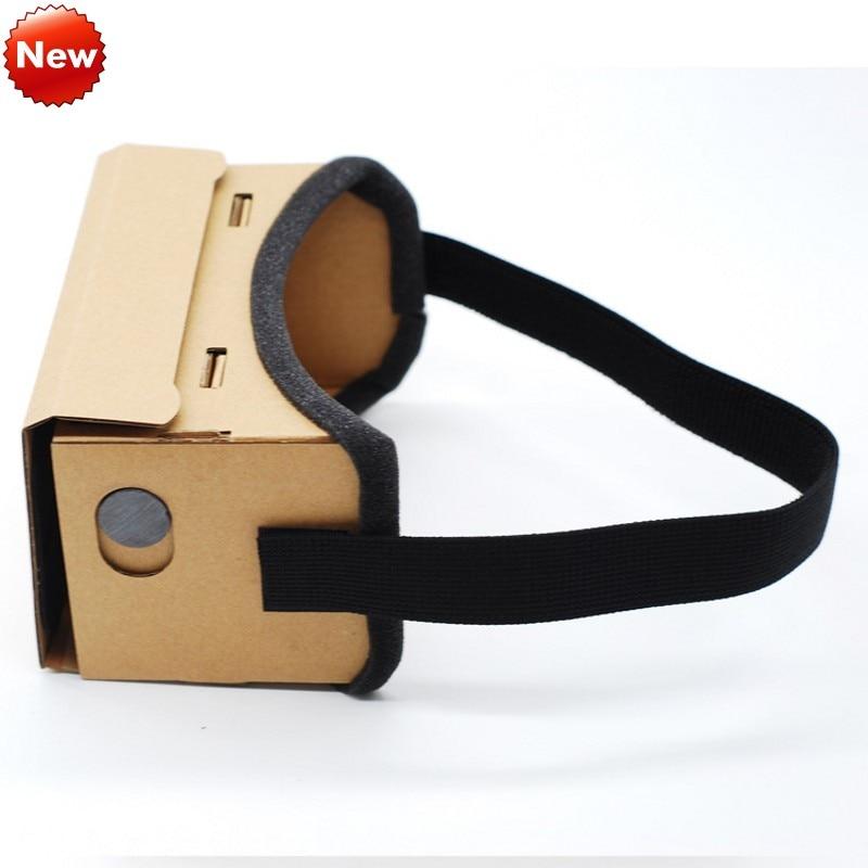 DIY виртуальной реальности Очки Google cardboard удобные Очки 3D Очки VR box фильм для iPhone 6 7 смартфон VR гарнитура