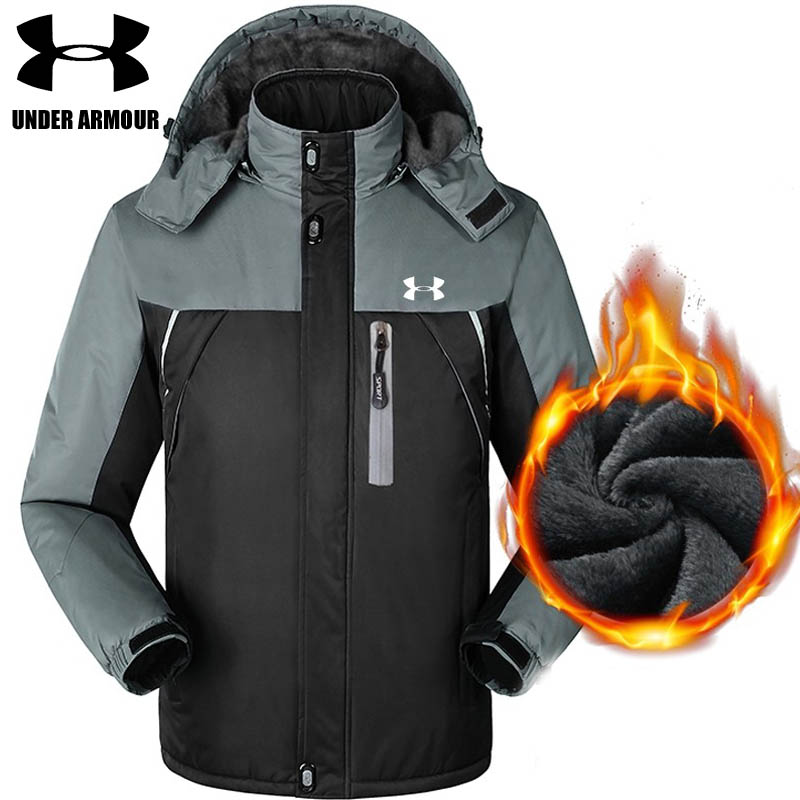 Under Armour winter jacket men outdoor warm windproof jacket Camping trekking training jackets chaqueta hombre Asian size L-5XL цены онлайн