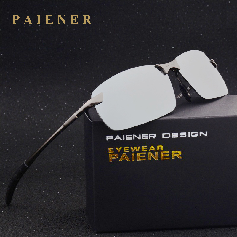 Male anti-uv 400 polarized sunglasses car driver mirror sun glasses Aluminum frame men cool fishing glasses fashion male eyewear