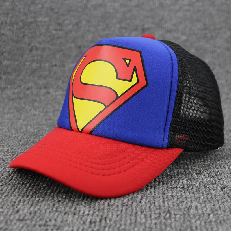 New Superman Child Baseball Caps Snapback Hats For Boy Girl Hip Hop Cap Kids Mesh Outdoor Sports Unisex Sun Hat Baby Summer Hats feitong summer baseball cap for men women embroidered mesh hats gorras hombre hats casual hip hop caps dad casquette trucker hat