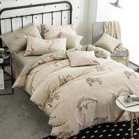 Cartoon Jurassic Dinosaurs Queen Size 4pcs Bedding Sets 100 Cotton Bedlinens Duvet Cover Set Bed Sheet