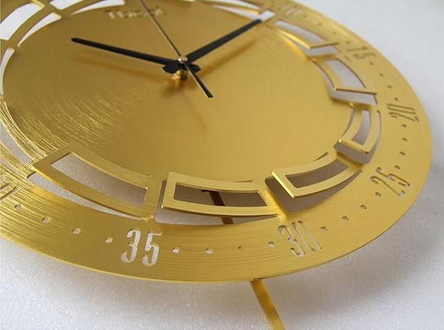 16 Inch 3D Metal Brief Living Wall Clock Modern Design Bedroom Horloge Murale Quartz Wall Watch Home Decoration Wall Sticker