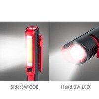портативный ручной удара светодио дный фонарик многофункциональный фонарик магнитная рабочих инспекции карманный свет лампы зарядка через порт USB