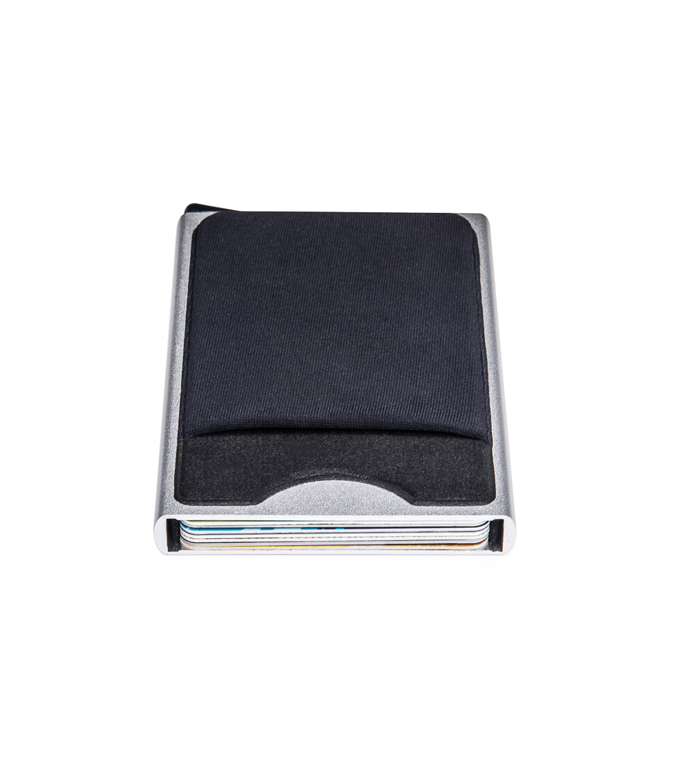 Newbring slim slide card holder wallet automatic pop up business this rfid aluminum card holder is very small and light easy to carry for a day to day traveling or for business occasion perfect for business cards reheart Image collections