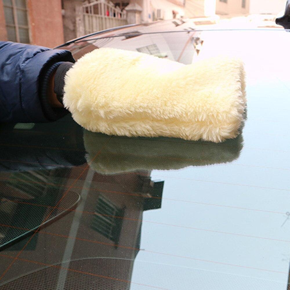 New Microfiber Plush Mitt Car Wash Mitten Washing Glove Cleaning Brush Tools W