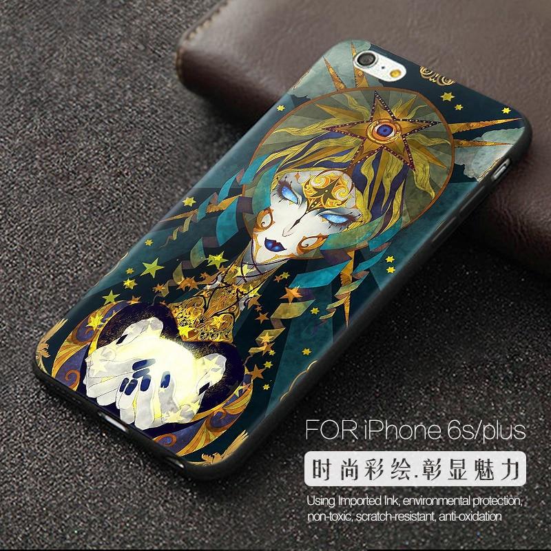 Nový styl pro iPhone 5 5s SE 6 6s 6 plus 6s plus Svaté tarotové karty TPU Soft Case
