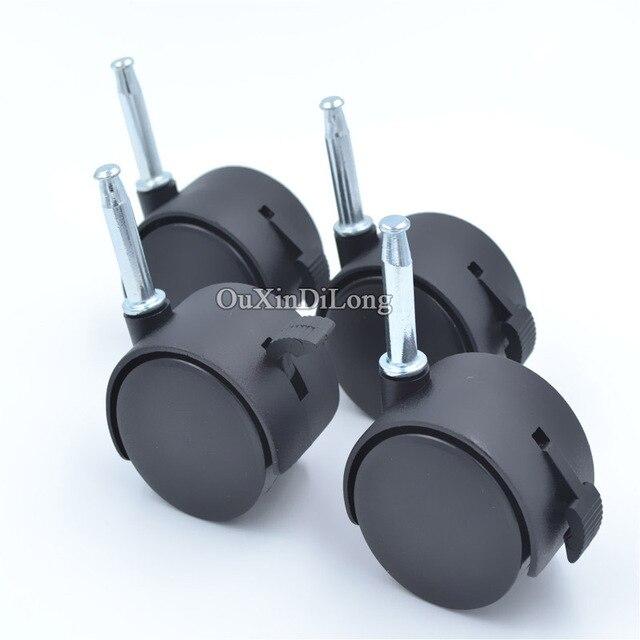 4 unids/lote rotación universal Ruedas con freno para Sillas de ...