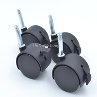 4PCS Lot Universal Rotation Casters Wheels With Brake For Office Chairs Child Baby Bed Carts Trolley