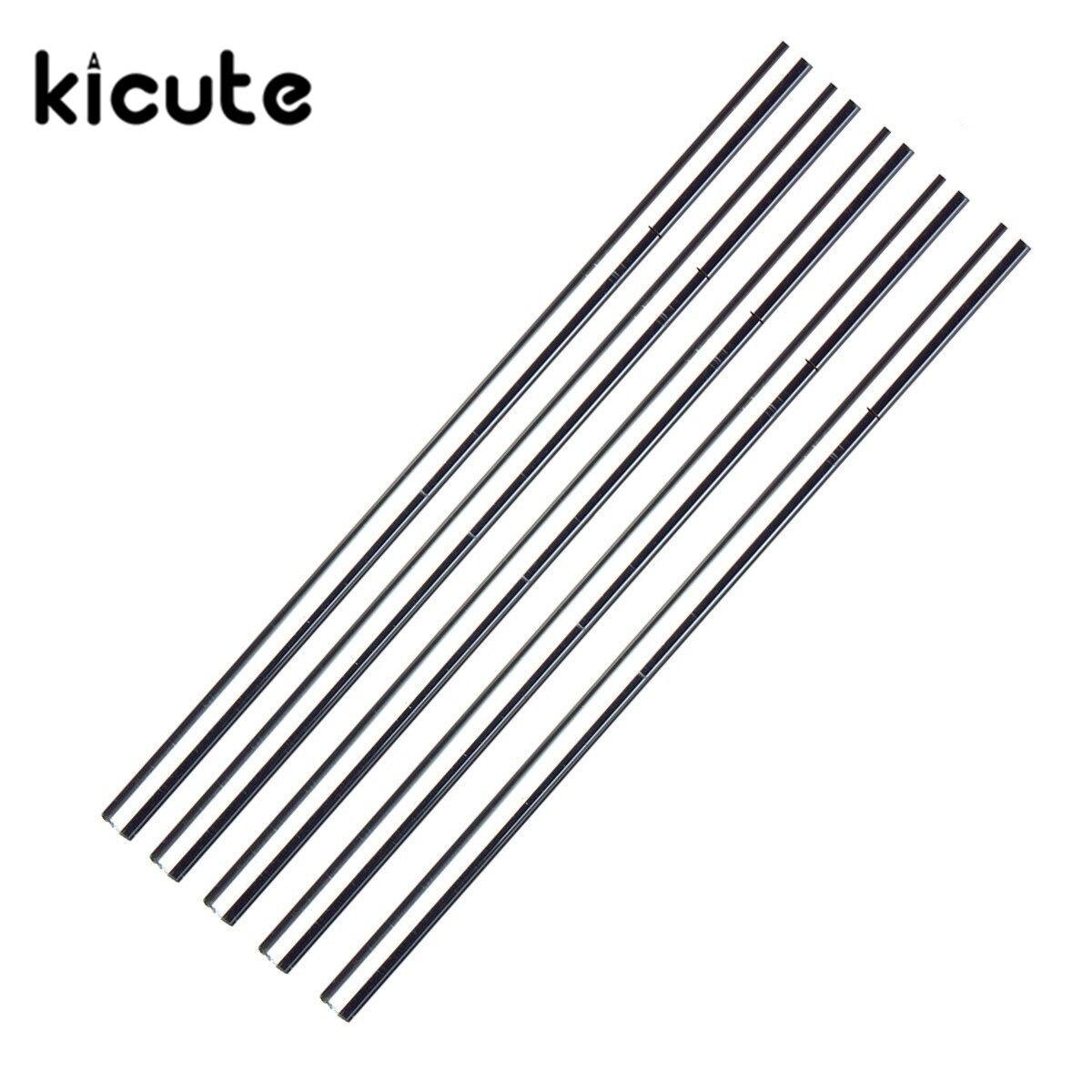 KiCute 5pcs Laboratory 150mmx5mm Transparent School Tools Glass Buret Mixer Glass Stirring Rod For Lab Use Stiring Stirrer