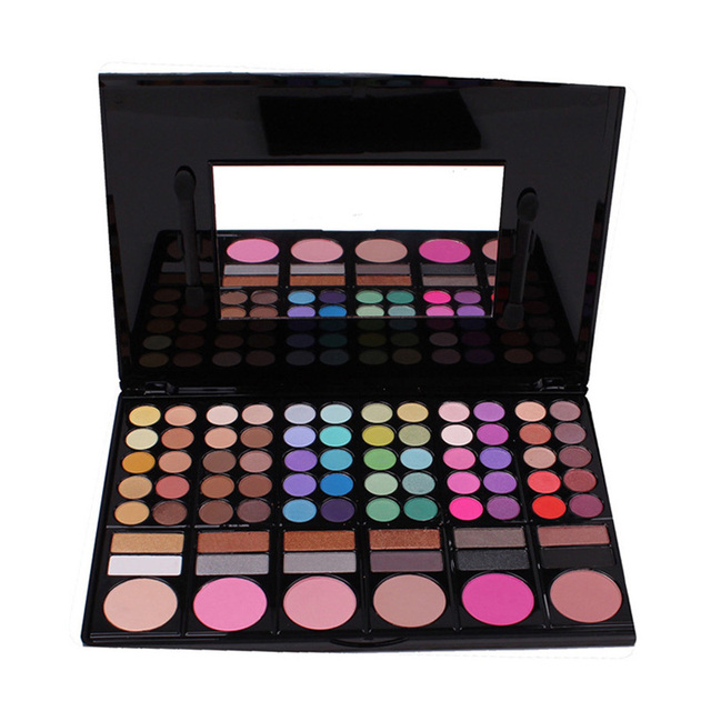 Nova Venda Quente 1 PCS 78 Cores Da Paleta Da Sombra de Maquiagem Cosméticos Sombra Em Pó Escovas Marca de Maquiagem Paleta de Olho