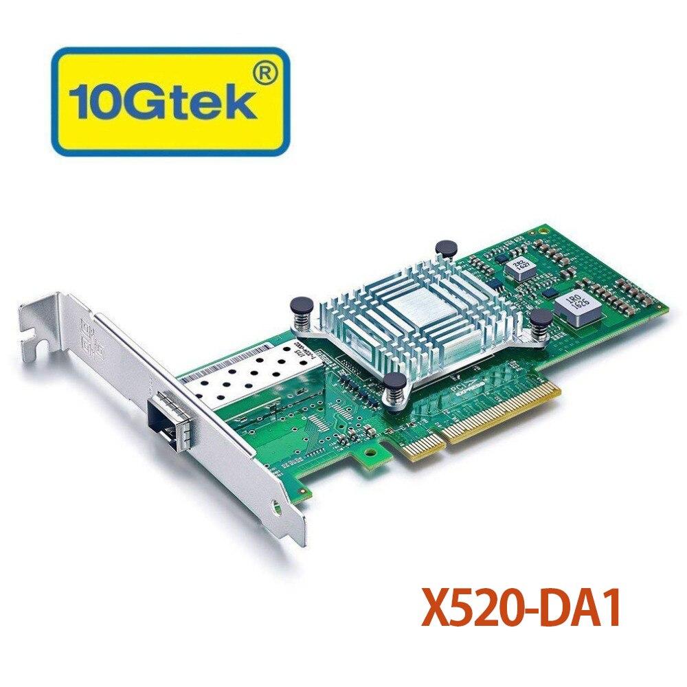 10Gtek Intel 82599ES Chip 10Gbps Ethernet Sever Adapter(NIC), Single SFP+ Port, PCI Express 2.0 x8,Same as X520 DA1